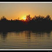 Sunset Pond Art Print