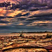 Sunset Rocks Art Print
