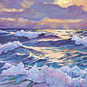 Sunset Santa Catalina Print by David Lloyd Glover