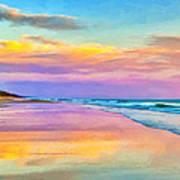 Sunset South Of Todos Santos Art Print