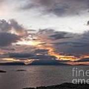 Sunset Storm Clouds Inner Hebrides Art Print