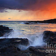 Sunset Storm Passing Art Print by Mike  Dawson