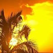 Sunset, Wailea, Maui, Hawaii, Usa Art Print