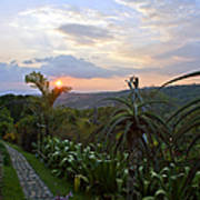 Sunsetting Over Costa Rica Art Print