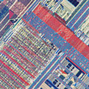 Surface Of Integrated Chip Art Print by Michael W. Davidson