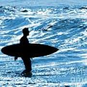 Surfer Silhouette Art Print by Carlos Caetano