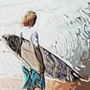 Surfer Art Print by Tilly Williams