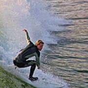 Surfin' The Wave Art Print
