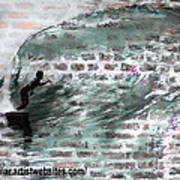 Surfing The Wall Print by RJ Aguilar