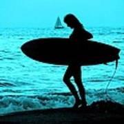 Surfs Up Blue Art Print