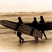 Surfs Up Sephia Art Print