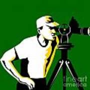 Surveyor Geodetic Engineer Survey Retro Art Print