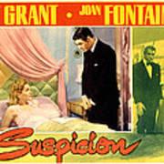 Suspicion, Joan Fontaine, Cary Grant Art Print by Everett