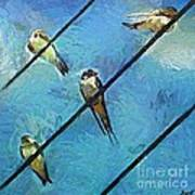 Swallows Goes To South Art Print