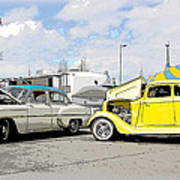 Swap Meet Plymouth And Chevy  Art Print