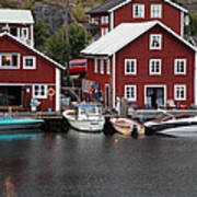 Swedish Fishing Village Art Print