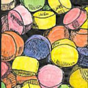 Sweet Tart Candy Art Print
