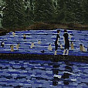 Swimming At The Res Art Print