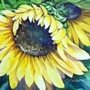 Swingin' Sunflowers Art Print