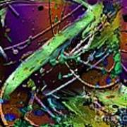 Swirls Number 2 Art Print by Doris Wood