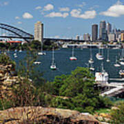 Sydney From Blues Point Art Print