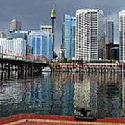 Sydney From Darling Harbour Art Print