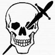 Symbol: Skull & Dagger Art Print