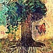 Symbolically Solid Tree Art Print by Paulo Zerbato