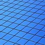 Symmetrical Pattern Of Blue Squares Art Print