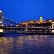 Szechenyi Bridge In Budapest Art Print