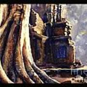 Ta Prohm Khmer Temple In Cambodia Art Print