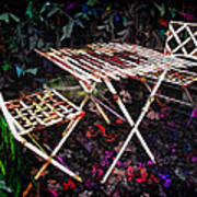 Table And Chairs Art Print by Joan  Minchak