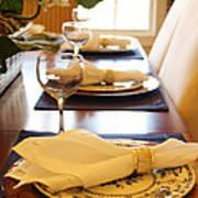 Table Set For Dinner Art Print by Jeremy Allen
