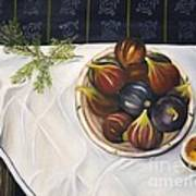 Table With Figs Art Print by Carol Sweetwood