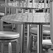 Tables And Stools Art Print