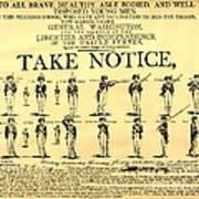Revolutionary War  Take Notice  Art Print