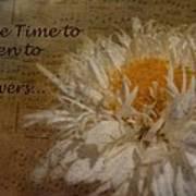 Take Time Art Print by Cindy Wright