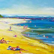 Taking It Easy At Coloundra Beach Queensland Australia Art Print