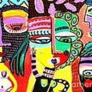 Talavera Dancers Art Print