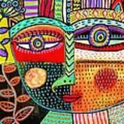 -talavera Owl Goddess Art Print