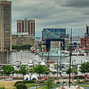 Tall Ships At Baltimore Inner Harbor Art Print