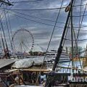 Tall Ships At Navy Pier Art Print