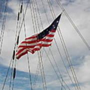 Tallship Flag Art Print