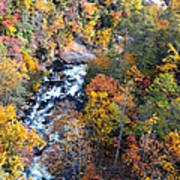 Tallulah River Gorge Art Print by Susan Leggett