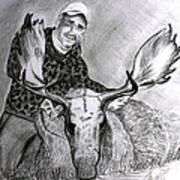 Tamed Moose Art Print by Carolyn Ardolino