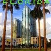 Tampa Florida Poster Work Number One Art Print