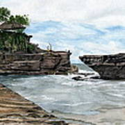 Tanah Lot Temple II Bali Indonesia Art Print