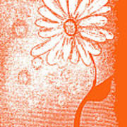 Tangerine Daisy By Shawna Erback Art Print