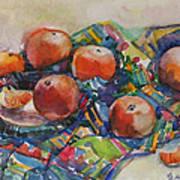 Tangerines Print by Juliya Zhukova