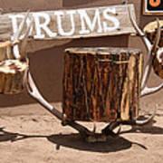 Taos Drum Shop Art Print